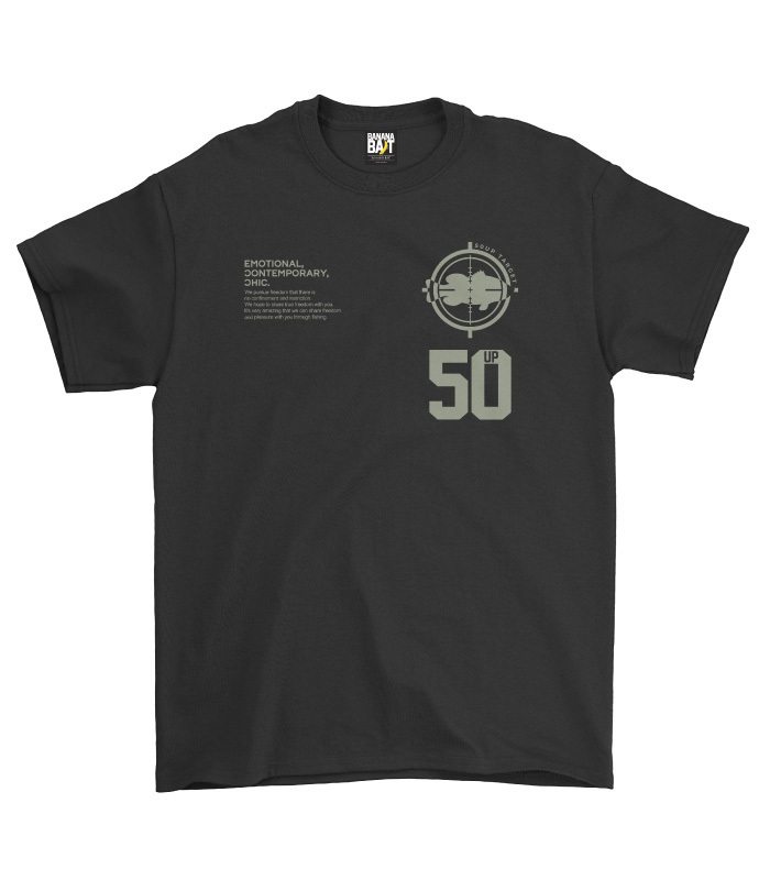 50up Target T-Shirts / black